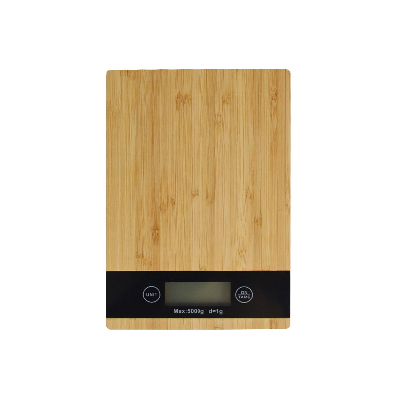 Bamboo Panel Electronic Digital Kitchen Scale